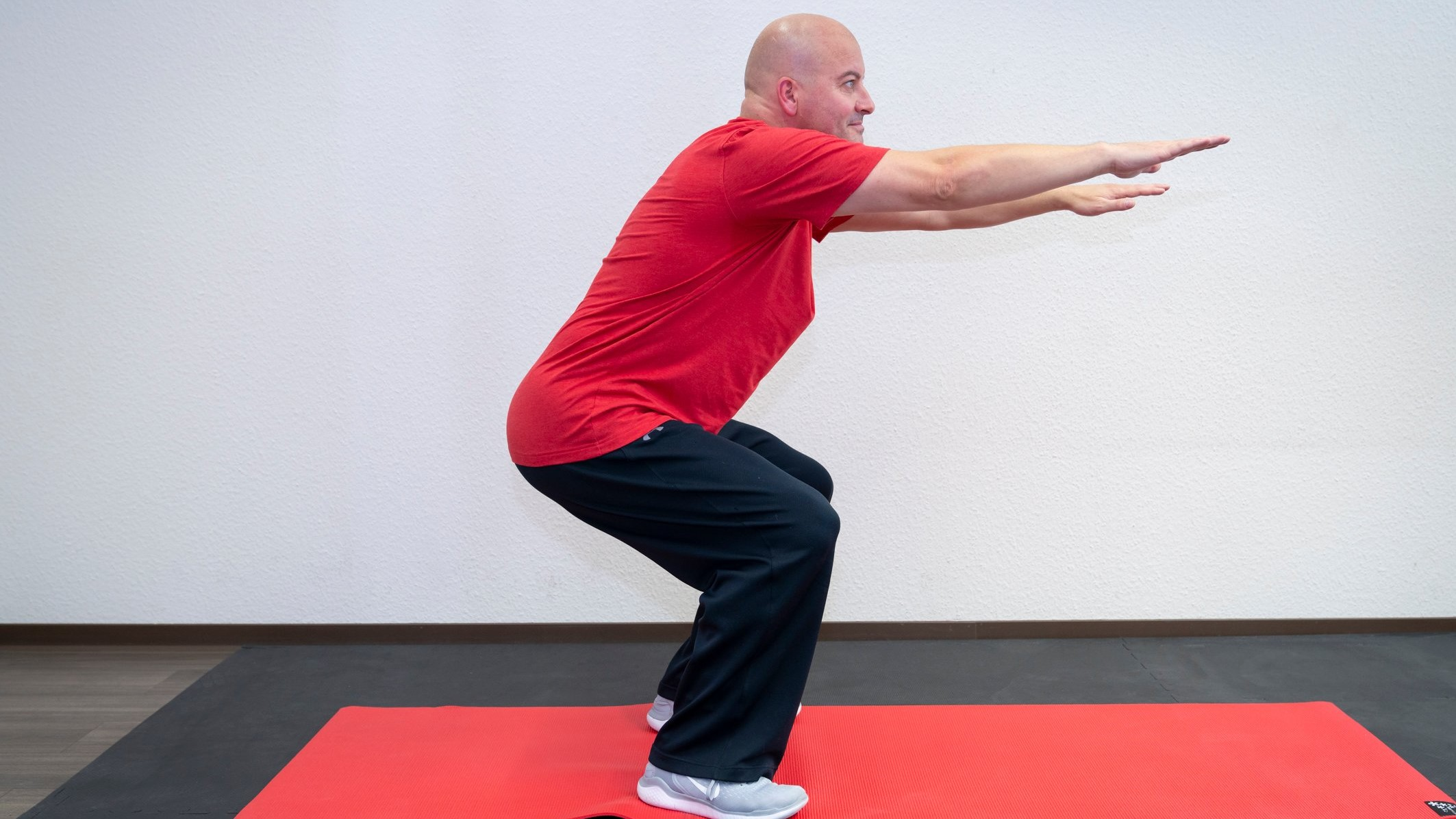 core stability kniebeuge