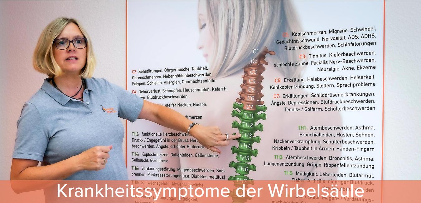 krankheitssymptome der wirbelsäule